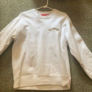 Supreme step arc sweat shirt white